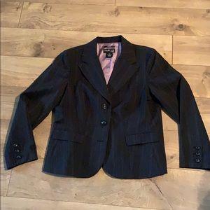 Style & Co. 12P Grey &  lavender pin stripe blazer